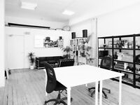 DESK SPACE IN SPACIOUS & BRIGHT WAREHOUSE OFFICE - DE BEAUVOIR, N1