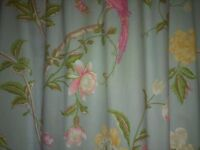 Summer Palace Duck Egg Floral Curtains 70 wide x 90 drop inches