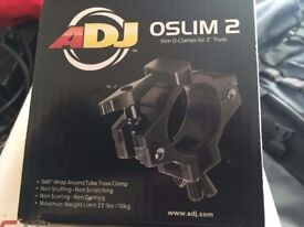 4 X Brand new AMERICAN DJ OSLIM 2 CLAMP 50mm