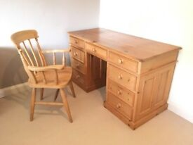 Antique pine home/ office furniture 5 piece set