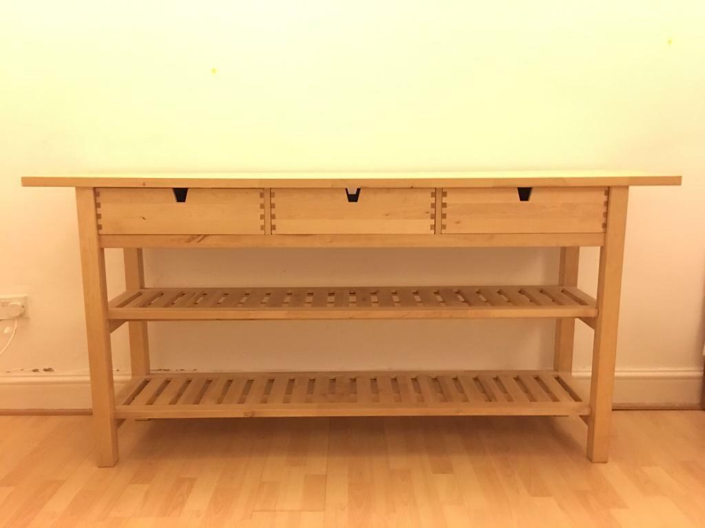 Console table ikea norden w188cm in camden london for Ikea hall table