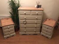 SOLD SOLD Chest of drawers and bedside tables set- solid pine