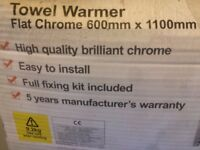 Unused new in box High Quality Chrome Ladder Towel warmer/radiator 1100mm x 600mm with fixing pack