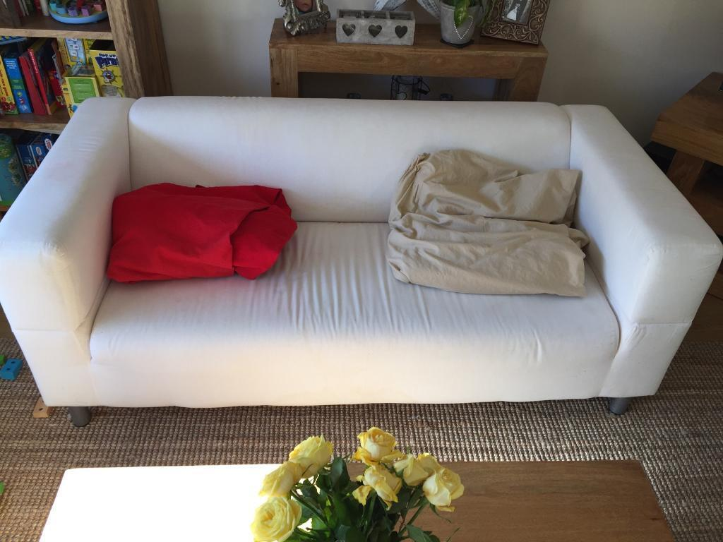 Ikea 3 Seater With Changeable Cover Sofa Settee Couch Used 2 Covers