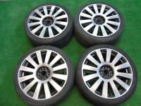 "AUDI RS8 STYLE, A3, A4, A6, TT, VW GOLF, PASSAT, TOURAN, CADDY 18"" ALLOY WHEELS"