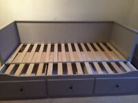 Kelvingrove. IKEA Day Bed grey. Single opens to double. 3 drawers. Good condition. No mattress.
