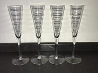 4 M&S Crystal Glasses