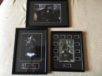 BATMAN - 'The Dark Knight Trilogy' Framed Signed Photographs