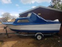 Boat for sale with trailer and Johnson 60HP VRO outboard