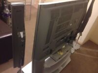 "42"" Panasonic TV on stand £125, with surround system £300"