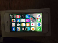 Apple iPhone 5 white & silver ( open to all networks) mint condition