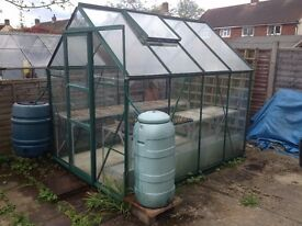 Greenhouse plus table and racking