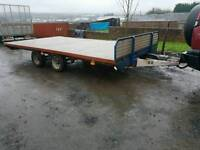 Ifor williams 15 x 8.2 flat bed trailer with chequered floor