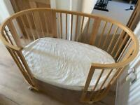 Stokke sleepi and mini light brown with mattress …