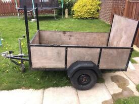 Car trailer 6 x 3.4 ft
