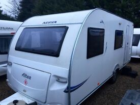 Adria Altea 524 6/7 Berth. (2010) Triple Bunk beds And Full Size Separate Shower/Toilet