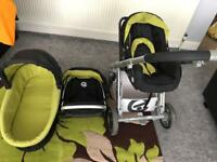 Oyster baby pushchair with baby car seat etc Very good condition and clean.