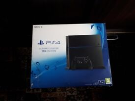 PS4 1TB with 3 games and 2 remotes
