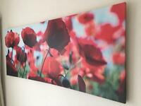 Poppy print canvas