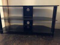 Free TV stand - black glass