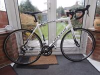 Specialized Allez C2 2014 Road Bike white & black, 58cm LARGE frame, barely used excellent condition