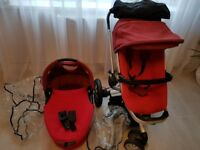 QUINNY BUZZ TRAVEL SYSTEM/PUSHCHAIR 2 In 1 RED