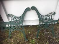 VINTAGE CAST IRON BENCH ENDS - CAN DELIVER