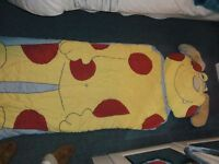 Sleeping bag Next childrens Monster bag with attached face pillow