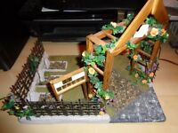 12th scale hand made church yard for a dolls house