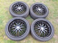 BMW 5x120 deep dish staggered alloy wheels cruize 190