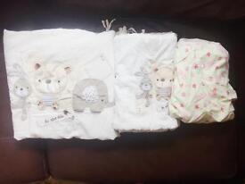 Baby cot bedding bundle
