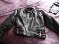 Women's size 12/14 leather motorbike jacket