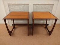 Pair G PLAN ASTRO Side Tables Vintage/Mid Century Teak Lamp/End/Bedside/Coffee - L