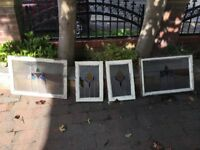 4 original stained glass windows