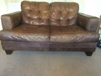 Two seather leather dfs sofa