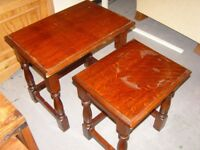 Pair of Solid Oak Coffee Side Tables