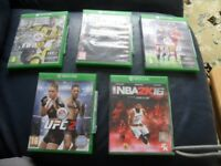XBOX one games 5 including UFC2