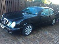2001 Mercedes CLK230 Avantgarde Komp A, Black 2 door coupe