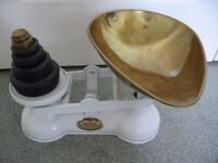 Vintage Salter kitchen scales with full set of weights