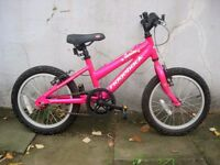 Kids Bike,Ridgeback, Pink, 14 inch Wheels, Great for Girls 4 + Years,JUST SERVICED/ CHEAP PRICE!!!!!