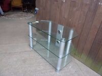 Clear Glass 3 Shelve Tv Stand Delivery Available £10