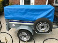 Larger Franc tipping trailer + extension kit/spare wheel
