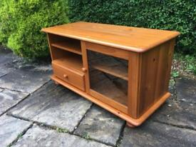 Solid PINE tv unit cabinet STAND BUN FEET shabby chic