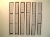 EXCELLENT IKEA BLACK METAL WIRE CD STORAGE RACK WALL MOUNTED 1210MM X 140MM HOLDS 84 CDS!