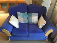 2 Blue Sofas (3 seater and 2 seater)