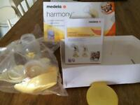 Manual breast pump and nipple shields