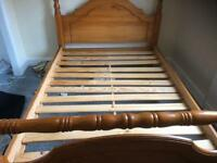 Solid wooden pine bed frame