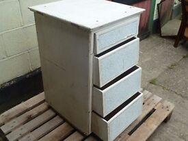 retro Shabby Chic set Of Drawers 4 Draw Unit Delivery Available