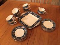 LOVELY WEDGEWOOD BLUE SIAM TEA SET
