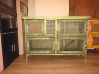 4ft 2 tier rabbit/ guinea pig hutch in forest green